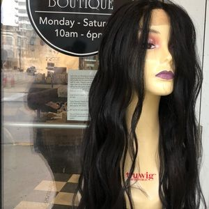 Accessories - Wig 13X6 Freepart Swisslace long loose wave 2019